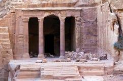 Petra - Jordan. The Garden Tomb in Petra, Jordan. Nabataeans capital city (Al Khazneh). Made by digging the rocks. Roman Empire period Royalty Free Stock Photos