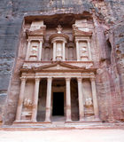 Petra - Jordan. Petra - Nabataeans capital city (Al Khazneh) , Jordan. Treasury tomb. Roman Empire period Stock Photos