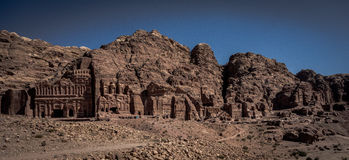 Petra in Jordan. The ancient city of Petra in Jordan Royalty Free Stock Photo