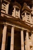 Petra, Jordan. Ancient temple of Petra, Jordan Stock Photography