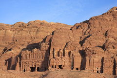 Petra in Jordan. The city petra in Jordan Stock Photos