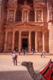 Petra Jordan ha scolpito il tempio fotografie stock