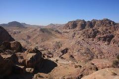 Petra Jordan. The historic city petra in jordan Stock Photos