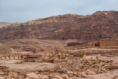 Petra, Jordan. Petra landscape. Jordan. The mountanis Royalty Free Stock Image