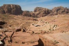 Petra, Jordan. Petra landscape with tipical cave. Jordan Royalty Free Stock Images