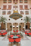 PETRA, JORDAN - MARCH 12, 2016: The Magnificent Courtyard Atrium Of The Movenpick Hotel In Petra, Jordan, Located At The Entrance Royalty Free Stock Photography