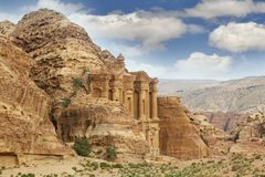 Petra, jordan, monastery Royalty Free Stock Image