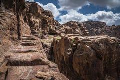 Petra Jordan Mountains sikt fotografering för bildbyråer