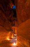 Petra, Jordan at Night Royalty Free Stock Photography