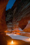 Petra, Jordan at Night Stock Photos