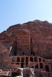 The Royal Tombs of Petra in Jordan Stock Images