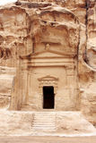 Petra Jordan. Ruins in moutain Petra Jordan Royalty Free Stock Photography