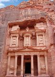 Petra in Jordan. Sanctuary. Petra in Jordan. City carved out of the rock. Sanctuary Royalty Free Stock Photo