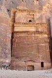 Petra Jordan. Stone monument in Petra Jordan Stock Images