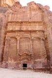 Petra Jordan. Stone monument in Petra Jordan Stock Photos