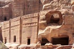 Petra Jordan. Stone monument in Petra Jordan Stock Photography
