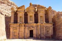 Petra Jordan. Stone monument in Petra Jordan Stock Photo