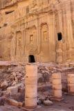 Petra Jordan. Stone monument in Petra Jordan Royalty Free Stock Images