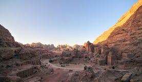 Petra, Jordan at Sunset Royalty Free Stock Photos