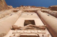 Petra in Jordan - the tomb Royalty Free Stock Photo