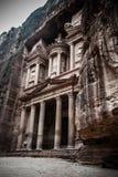 Petra. Jordan. Treasry Temple, Ancient ruin Stock Photos