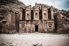 Petra. Jordan. Treasry Temple, Ancient ruin Stock Photography