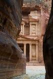 Petra. Jordan. Treasry Temple, Ancient ruin Royalty Free Stock Photos