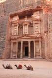 Petra Jordan. The Treasure House in Petra Jordan Royalty Free Stock Photo