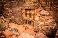 Petra Jordan. The treasury in Petra Jordan Royalty Free Stock Images