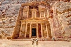 Petra Jordan. Treasury in Petra the lost city in Jordan Stock Image