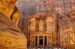 Petra Jordan. Treasury of Petra the lost city in Jordan Royalty Free Stock Image