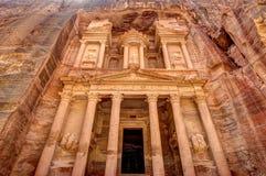 Petra Jordan. Treasury of Petra the lost city in Jordan Royalty Free Stock Photo