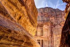 Petra Jordan. Treasury of Petra the lost city in Jordan Royalty Free Stock Photography