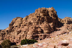 Petra, Jordan UNESCO world heritage site and one of The New 7 Wonders of the World. Landscape in Petra, Jordan UNESCO world heritage site and one of The New 7 Royalty Free Stock Image