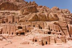 Petra, Jordan. View of the archeological site of Petra in Jordan Royalty Free Stock Images