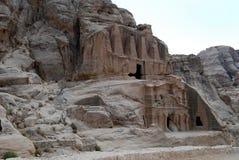 Petra, Jordan. View of ruins in Petra, Jordan royalty free stock image