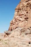 Petra, Jordan. View of the tombs in Petra, Jordan stock photography