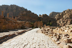 Petra Jordan- Walking Pahtway Royalty Free Stock Photography