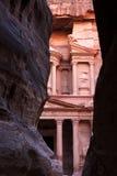 Petra in Jordanië Stock Afbeeldingen