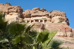Petra in Jordanië royalty-vrije stock fotografie