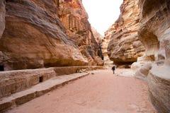 Petra in Jordanië Stock Afbeelding