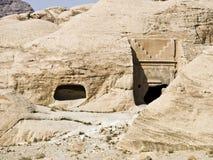 Petra in Jordanië - graven Stock Foto's