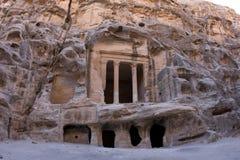 Petra - Jordanië (Weinig Petra) Royalty-vrije Stock Fotografie