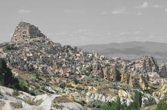 Petra Jordania forntida byggnad över bergen Royaltyfri Fotografi
