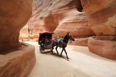 Petra - Jordania, un escondite histórico romano pre- fotos de archivo libres de regalías