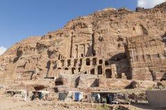PETRA, Jordanie, le 25 décembre 2015 : Tombe d'urne, tombe en soie Images libres de droits