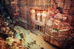 PETRA Jordanien stockfotografie