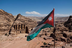 PETRA in Jordanien stockfotografie