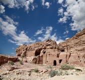Petra Jordanien-- det är ett symbol av Jordanien Arkivbild