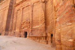 PETRA, Jordanien-- es ist ein Symbol höchst-besuchter Touristenattraktion Jordaniens sowie Jordaniens stockfoto